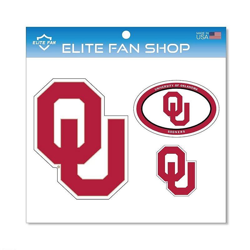 Oklahoma Sooners Magnet 3-Pack