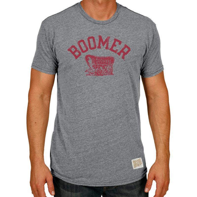 Oklahoma Sooners Retro TriBlend Tshirt Gray