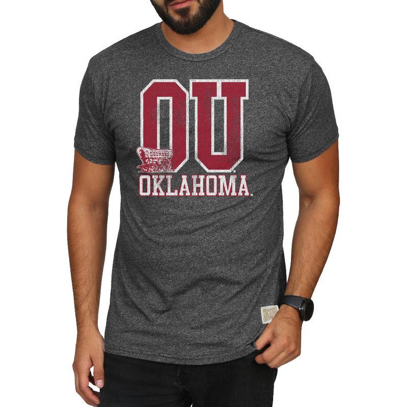 Oklahoma Sooners Retro TShirt Charcoal RB124_OKL019S6A_MTCH