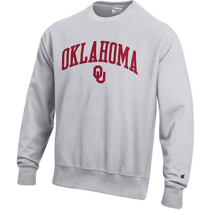 Oklahoma Sooners Reverse Weave Crewneck Sweatshirt Gray APC03006036