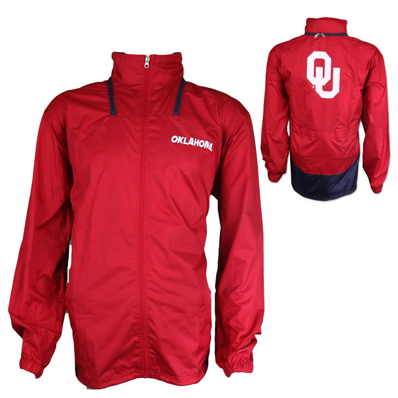 Oklahoma Sooners Stealth Full Zip Pack Away Jacket K 80NXE 91