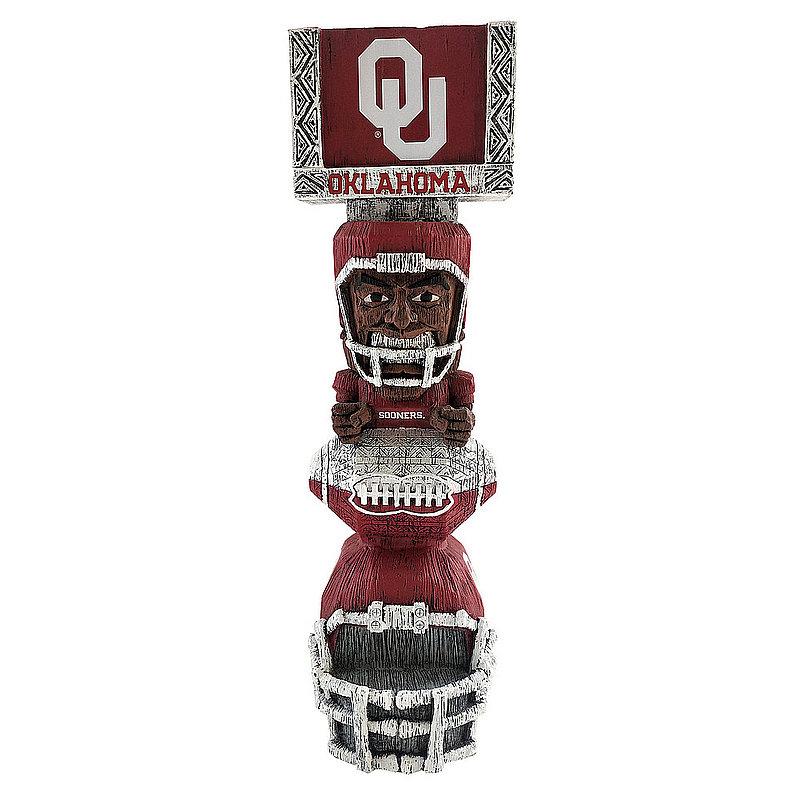 """Oklahoma Sooners Tiki Totem Figurine 14.5"""" TKNCSTKOK"""