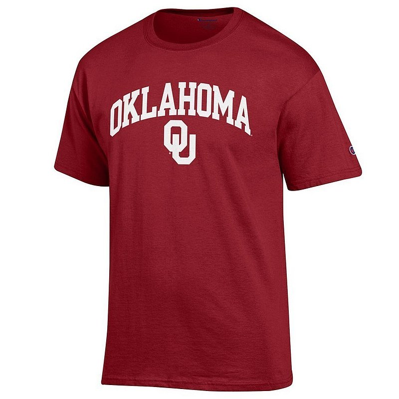 Oklahoma Sooners TShirt Varsity Crimson Arch Over APC02845688*
