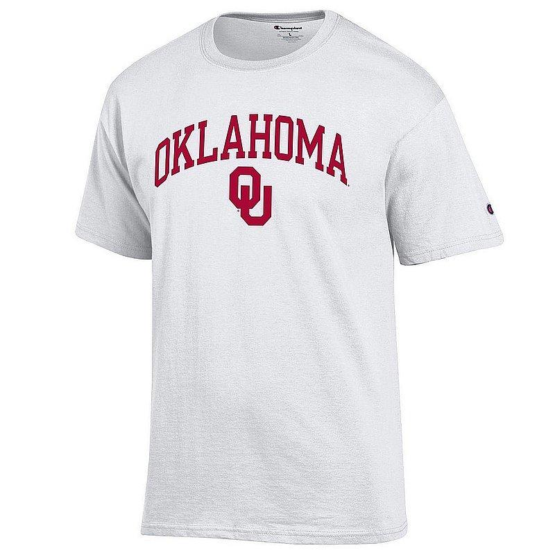 Oklahoma Sooners Tshirt Varsity White Arch Over APC03006364*