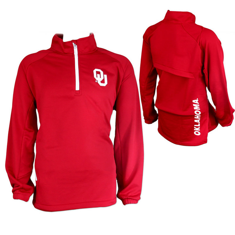 Oklahoma Sooners Vented Quarter Zip Performance K 80NWP 91