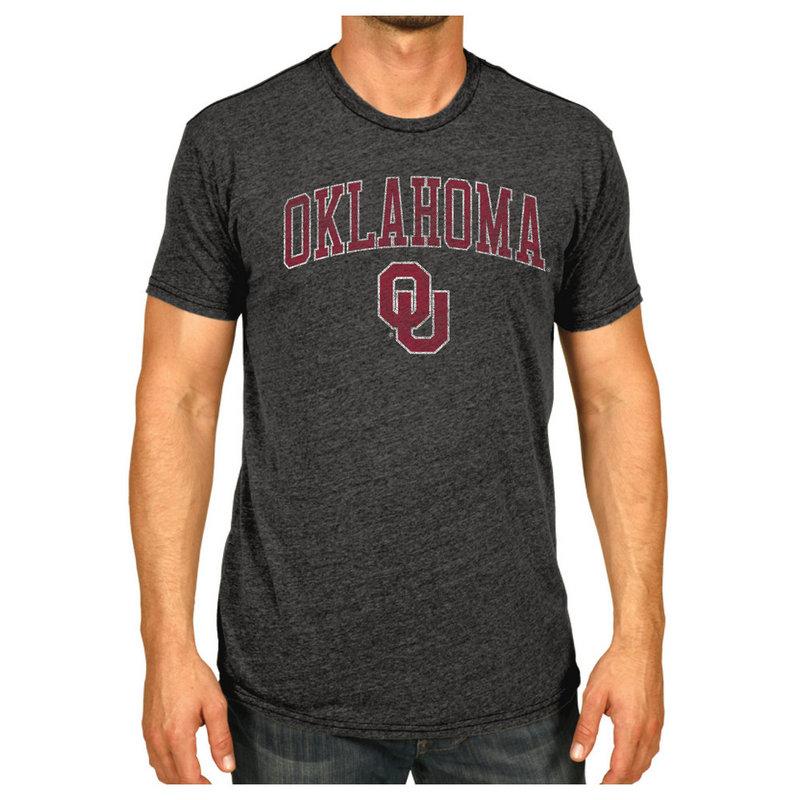 Oklahoma Sooners Vintage Tshirt Charcoal Victory OKLV1412B
