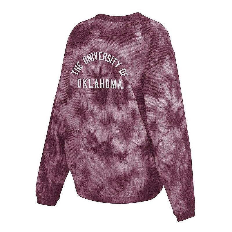 Oklahoma Sooners Women's Tie-Dye Corded Crewneck Sweatshirt 443-51-OU520