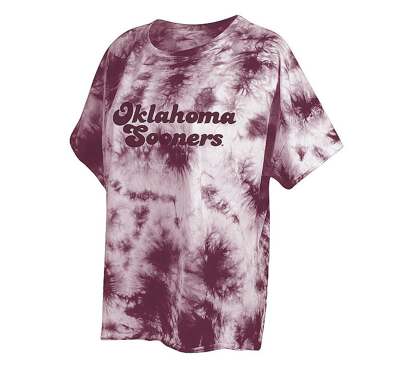 Oklahoma Sooners Women's Tie-Dye Slouchy Tshirt 469-51-OU546