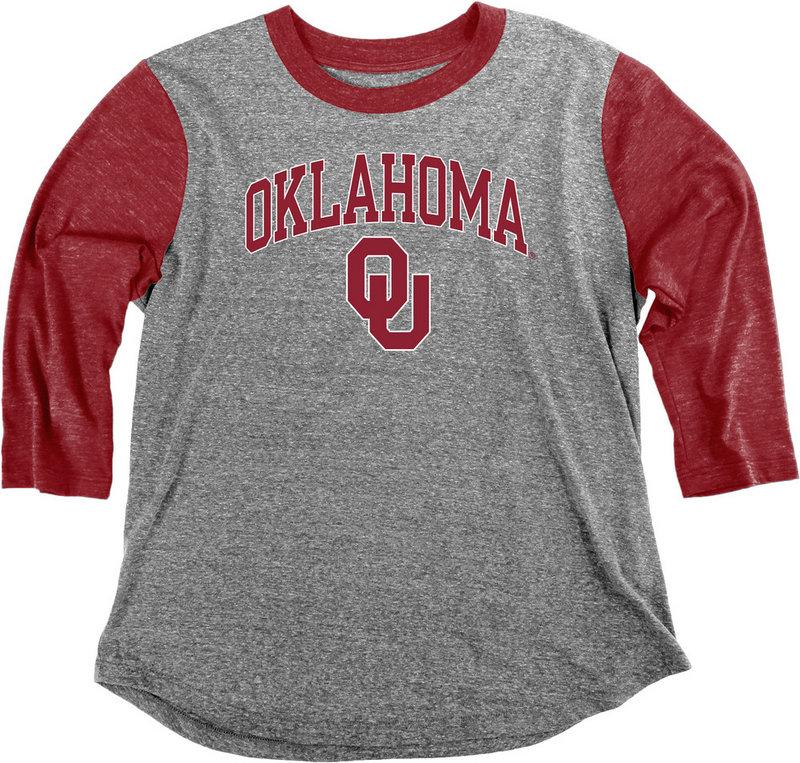 Oklahoma Sooners Womens 3/4th Sleeve Tshirt C7JF-JTBB