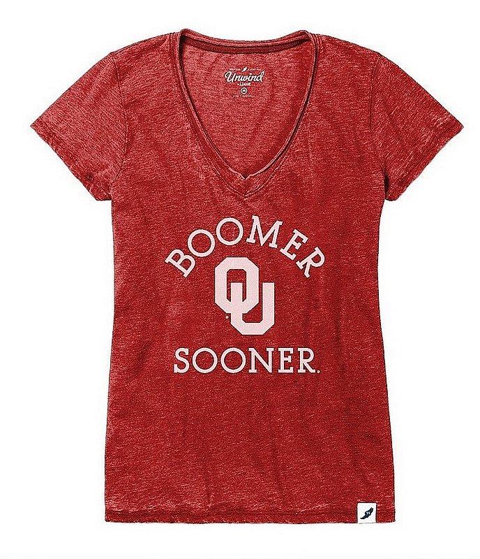 Oklahoma Sooners Womens Burnout TShirt Arch 626WVD