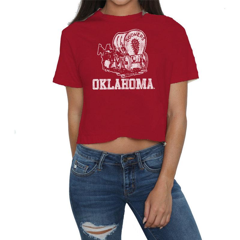 Oklahoma Sooners Womens Crop TShirt COKL105A_DRD