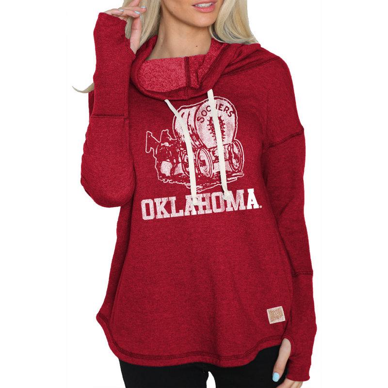 Oklahoma Sooners Womens Funnel Neck Sweatshirt