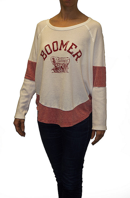 Oklahoma Sooners Womens Thermal Long Sleeve Shirt COKL821R_RB1906M_SRE