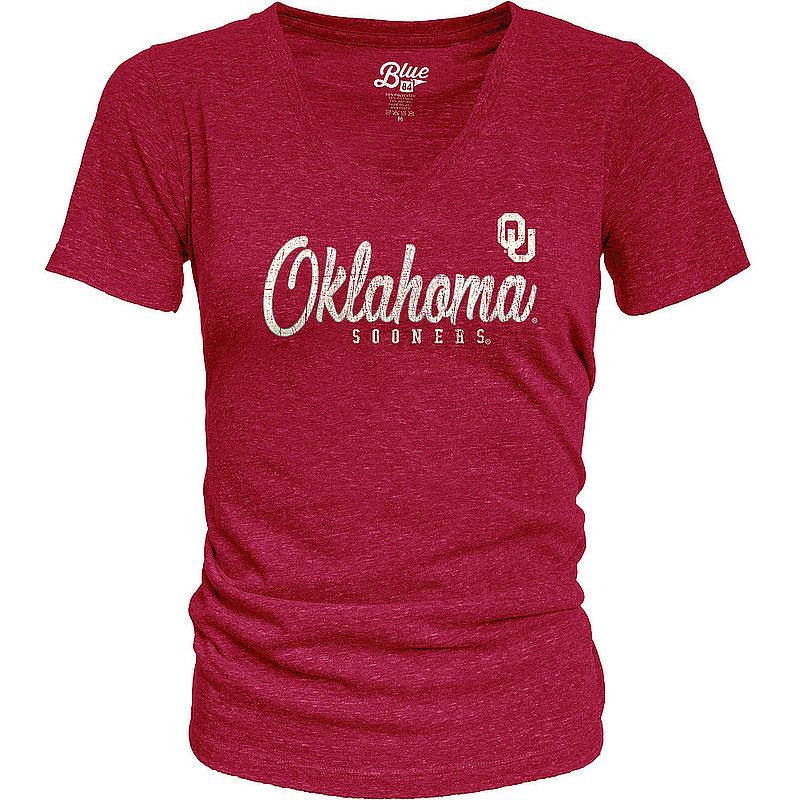 Oklahoma Sooners Womens TriBlend TShirt Vintage ZJKK_JTRV_CARDI