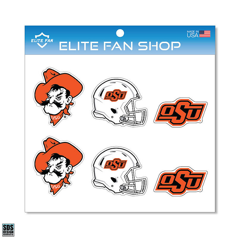 "Oklahoma State Cowboys 3"" Vinyl Decal 6-Pack"