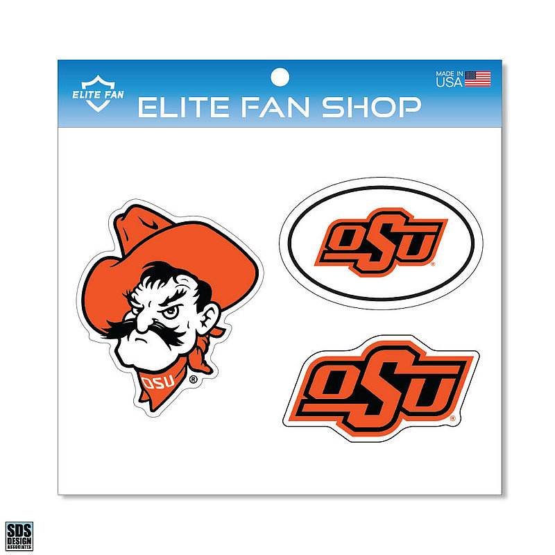 "Oklahoma State Cowboys 6"" Vinyl Decal 3-Pack"