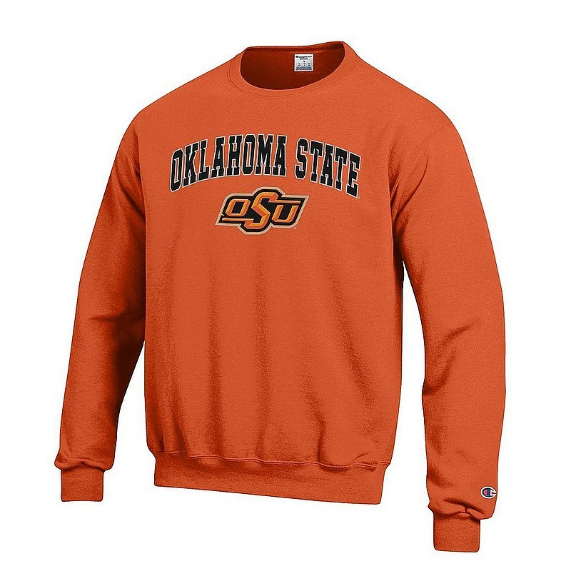 Oklahoma State Cowboys Crewneck Sweatshirt Varsity Orange Arch Over APC03004810*