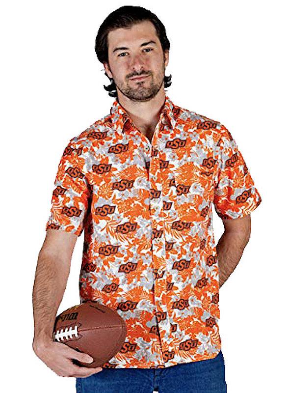 Oklahoma State Cowboys Hawaiian Shirt Floral MPL-SRWQ119-LS1552