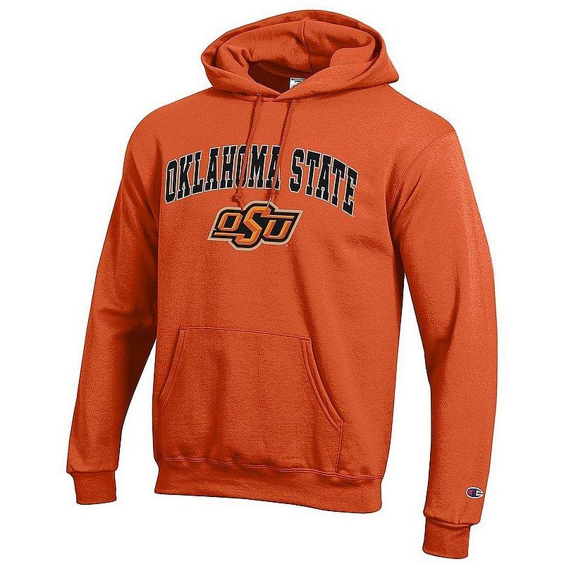 Oklahoma State Cowboys Hooded Sweatshirt Varsity Orange Arch Over APC03004810*