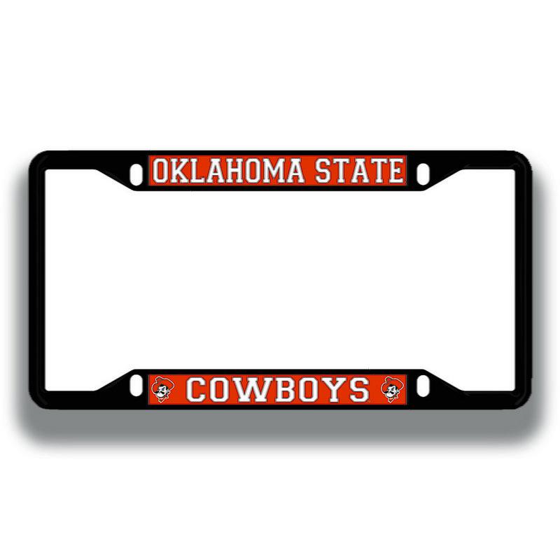 Oklahoma State Cowboys License Plate Frame Black 21746