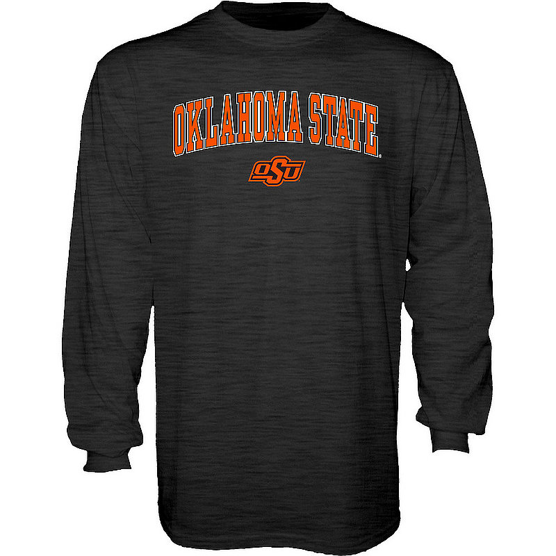 Oklahoma State Cowboys Long Sleeve Tshirt Varsity Charcoal Arch Over APC03004811*