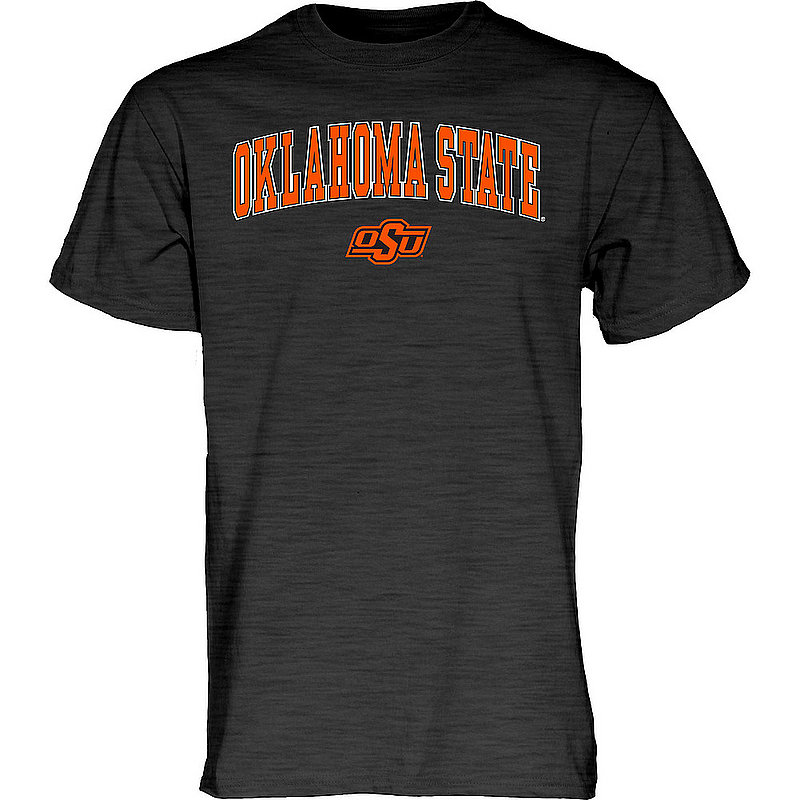 Oklahoma State Cowboys TShirt Varsity Charcoal Arch Over APC03004811*