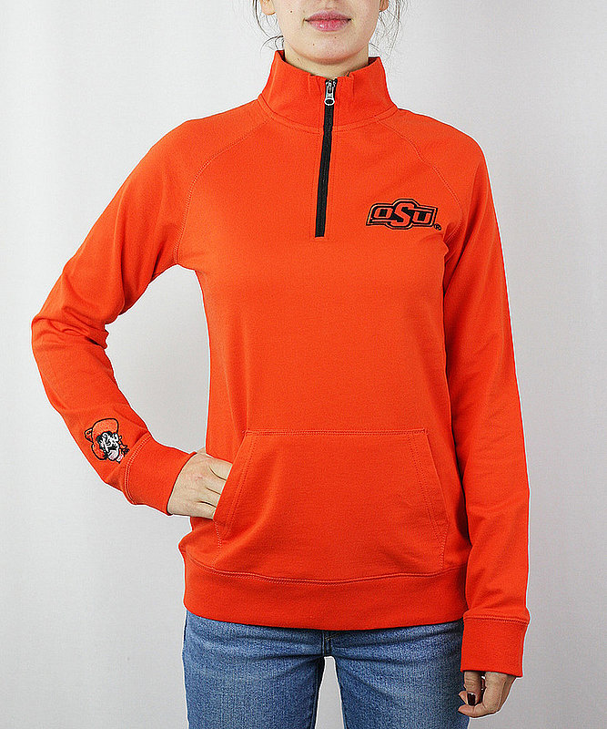 Oklahoma State Cowboys Women's Quarter Zip Captain Orange OKSFM662