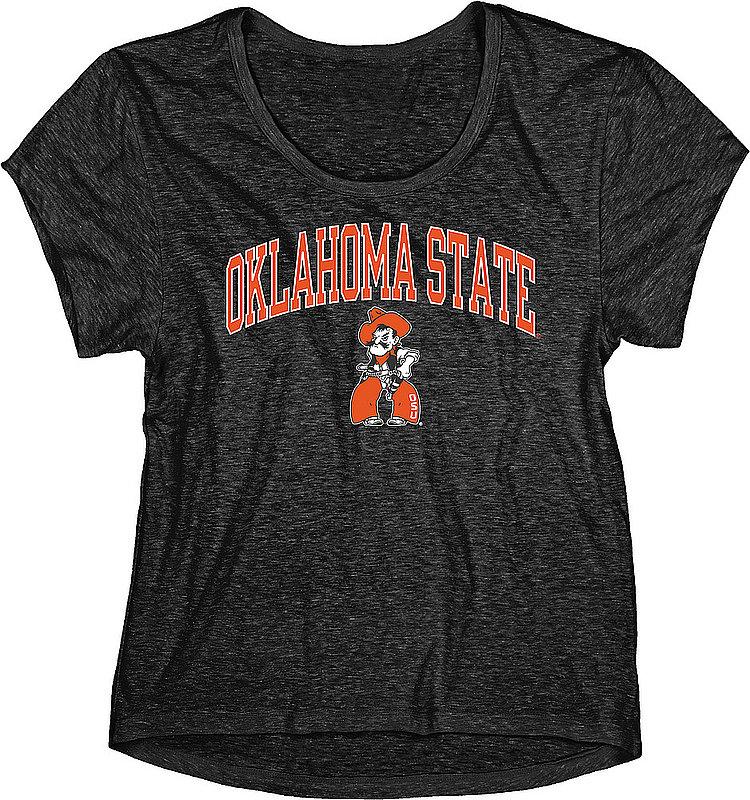 Oklahoma State Cowboys Womens TriBlend TShirt Black C7J9-LTBT