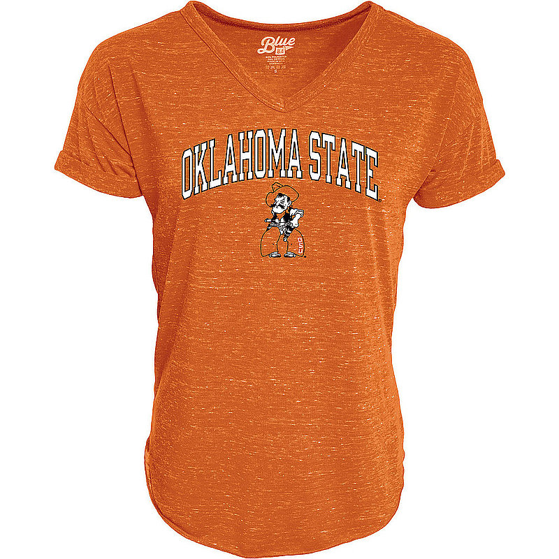 Oklahoma State Cowboys Womens Vneck TShirt Orange C73J-JCNRV