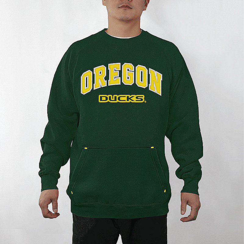 Oregon Ducks Crew Sweatshirt Captain Green OREA3354