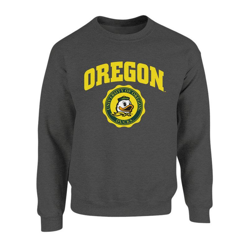 Oregon Ducks Crewneck Sweatshirt Seal Charcoal P0007480