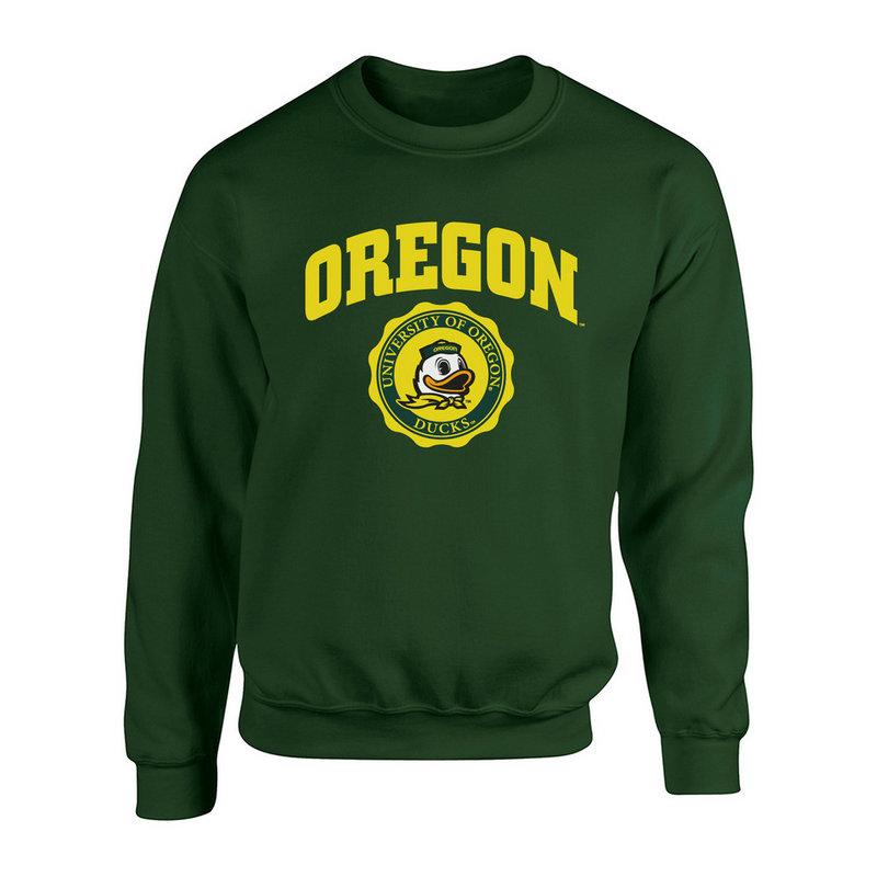 Oregon Ducks Crewneck Sweatshirt Seal Green P0007480