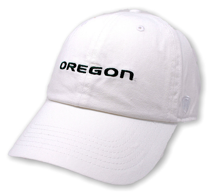Oregon Ducks Hat Icon White CHAMP-OR-ADJ-WHT