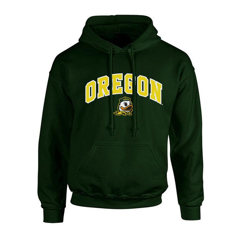 Oregon Ducks Hooded Sweatshirt Arch Green P0007461