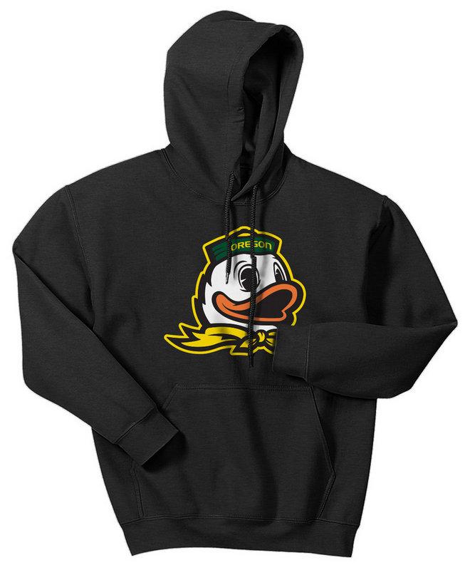 Oregon Ducks Hooded Sweatshirt Charcoal Icon