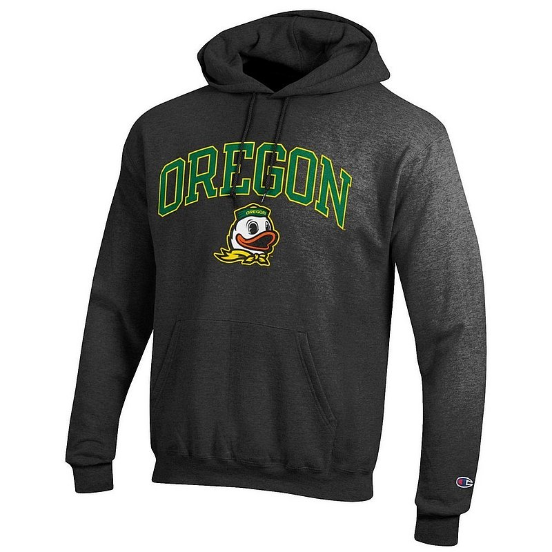 Oregon Ducks Hooded Sweatshirt Varsity Charcoal Arch Over apc02886267*