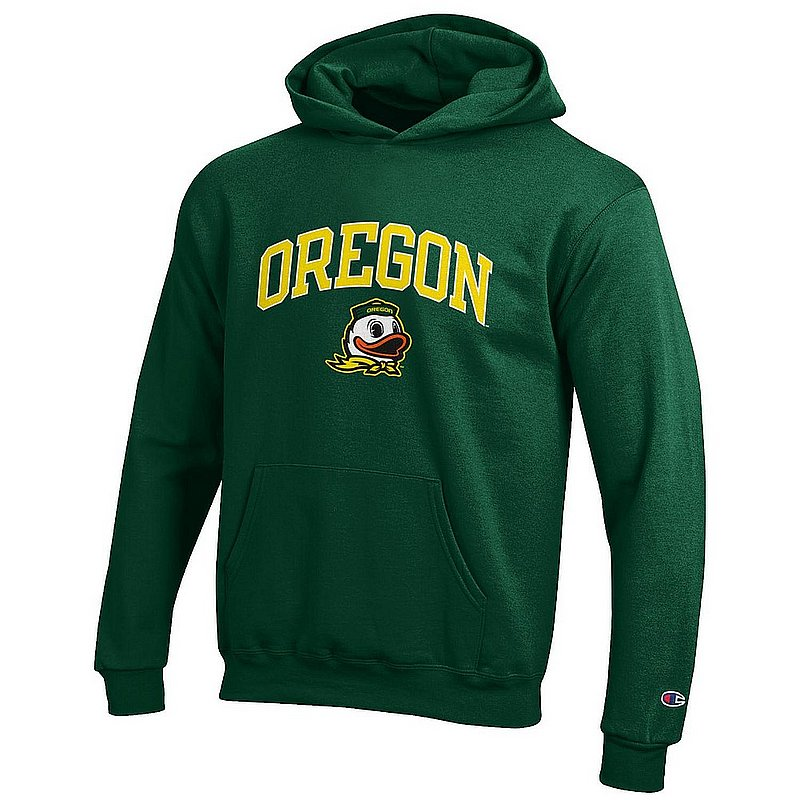 Oregon Ducks Kids Hooded Sweatshirt Arch Green APC03009049