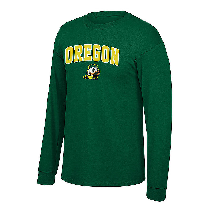 Oregon Ducks Long Sleeve Tshirt Arch Green P0007461
