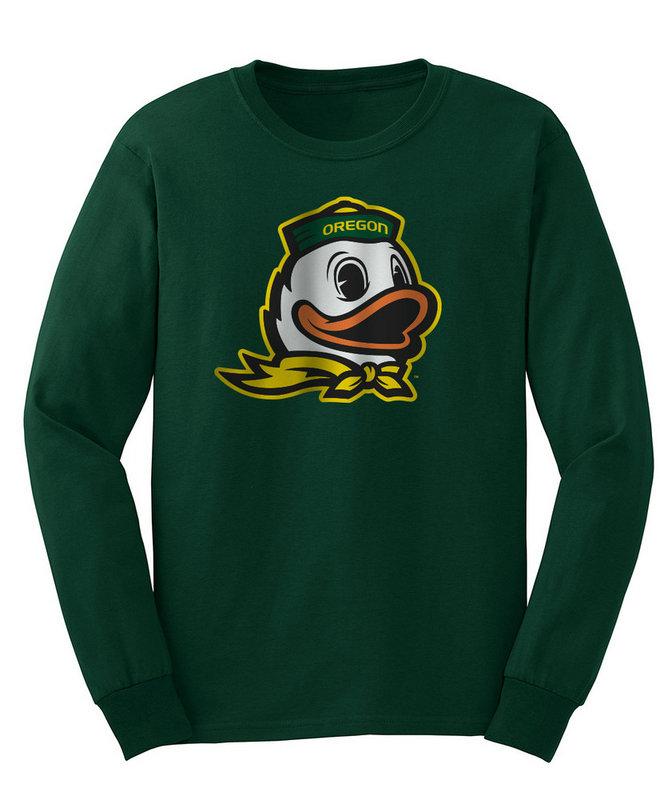Oregon Ducks Long Sleeve Tshirt Green Icon