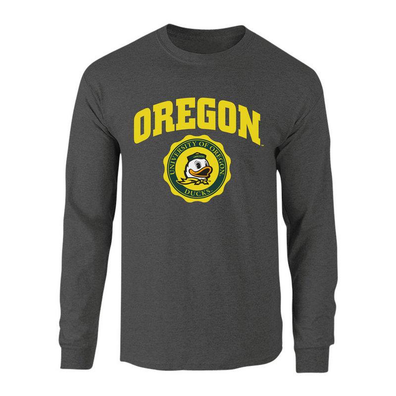 Oregon Ducks Long Sleeve Tshirt Seal Charcoal P0007480