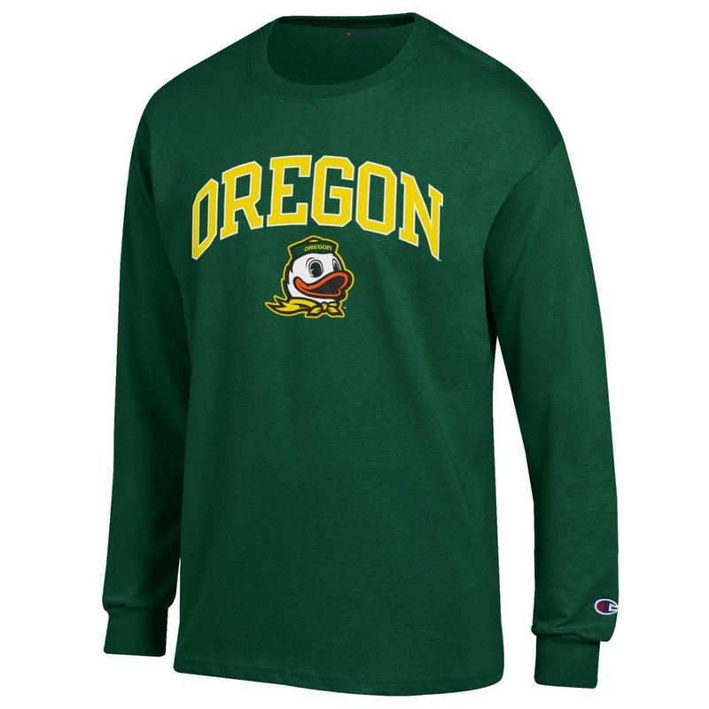 Oregon Ducks Long Sleeve Tshirt Varsity Green APC02879949