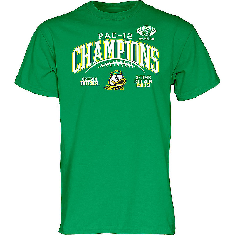 Oregon Ducks Pac-12 Champs Tshirt 2019 Laces GILT