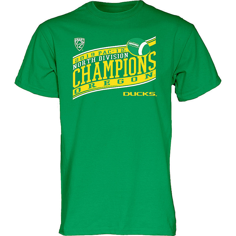 Oregon Ducks Pac-12 Champs Tshirt 2019 North Division TOUR-GUIDE-P1219-FT-CH-V2_BJ3ZX_ORE_TSGI_IRISHGRN