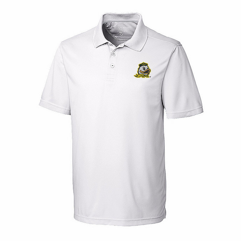 Oregon Ducks Polo Shirt Golf White MBK01275WH