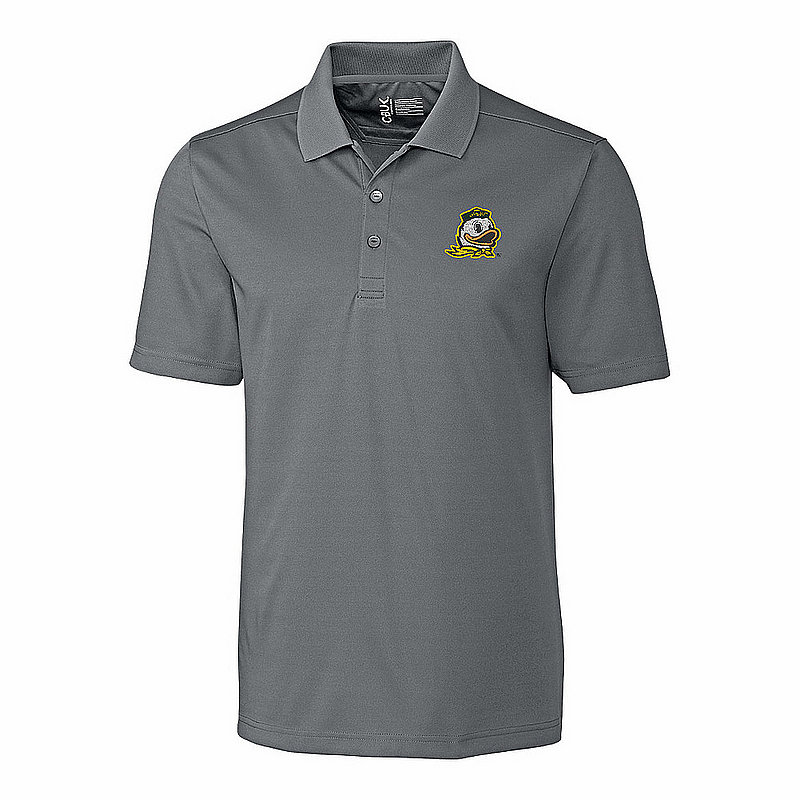 Oregon Ducks Polo Shirt Gray MBK01275LNK