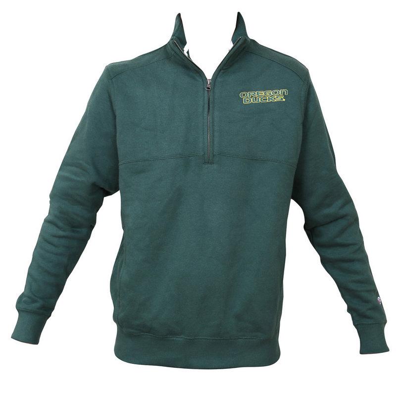 Oregon Ducks Quarter Zip Sweatshirt Forest Green