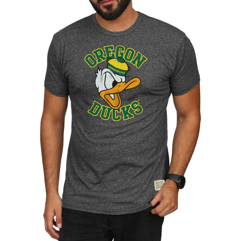 Oregon Ducks Retro TShirt Charcoal RB124_CORE047A_MTCH