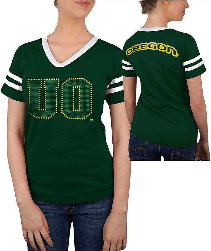Oregon Ducks Women's TShirt Captain Green OREJV501