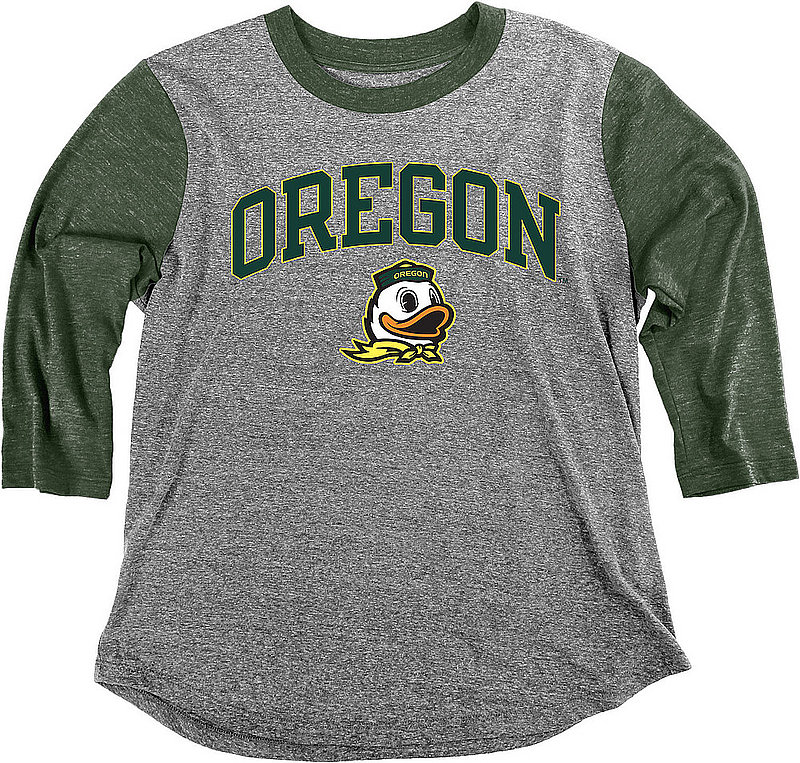 Oregon Ducks Womens 3/4th Sleeve Tshirt C7J5-JTYK