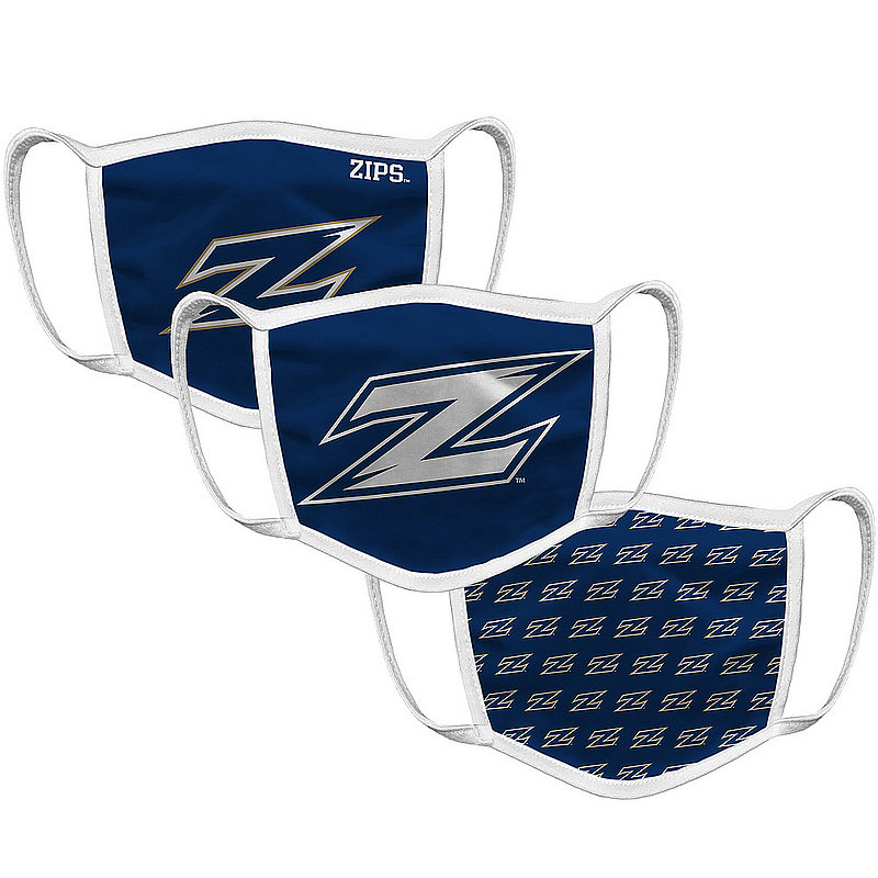 Akron Zips Retro Face Covering 3-Pack
